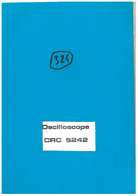 Service and User Manual Schlumberger CRC 5242