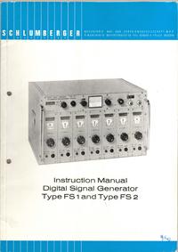 Servizio e manuale utente Schlumberger FS2