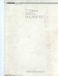 Manual del usuario Schlumberger 7150 plus