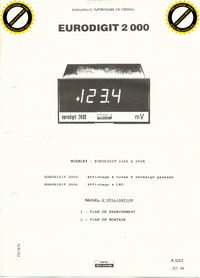 Manual del usuario Schlumberger Eurodigit 2504