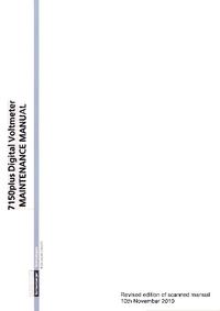 Serviceanleitung Schlumberger 7150plus