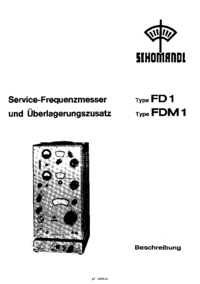 Service and User Manual Schomandl FD1