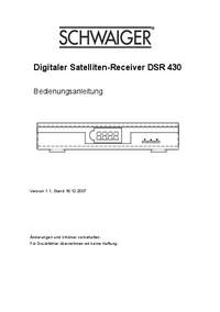 Manual del usuario Schwaiger DSR 430