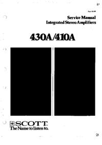 Instrukcja serwisowa Scott 430A