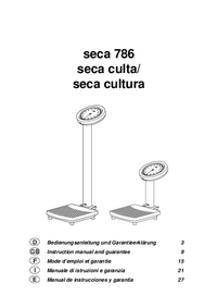 Manual del usuario Seca culta