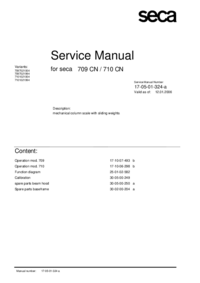 Servicehandboek Seca 709 CN