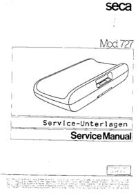 manuel de réparation Seca 727