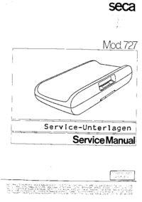 Servicehandboek Seca 727