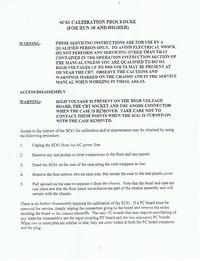 Manual de servicio Sencore SC61