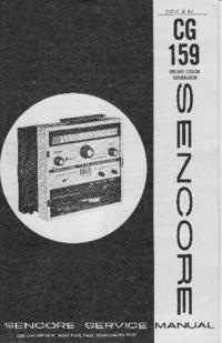 Manual de serviço Sencore CG159