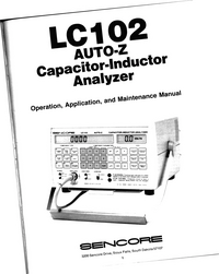 Service and User Manual Sencore LC102