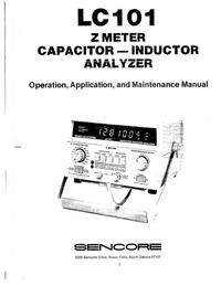 Manual de serviço Sencore LC101