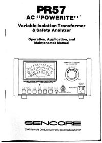 Manual do Usuário Sencore PR 57