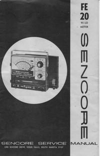 Manual de serviço Sencore FE20