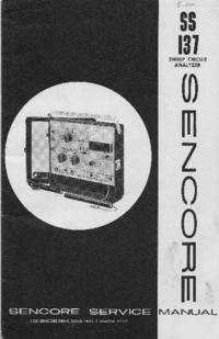 Руководство по техническому обслуживанию Sencore SS137