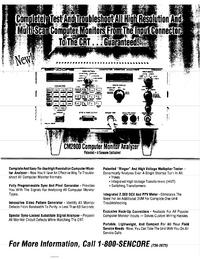 Datenblatt Sencore CM2000