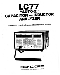 Manual del usuario Sencore LC77