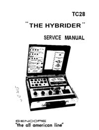 manuel de réparation Sencore TC28