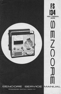 Manual de serviço Sencore FS134
