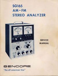 Servizio e manuale utente Sencore SG165