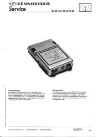 Manuale di servizio Sennheiser SK 2012-90