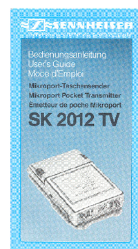 User Manual Sennheiser SK 2012 TV