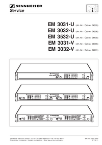 Manuale di servizio Sennheiser EM 3031-V