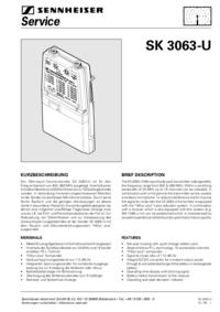 Manual de servicio Sennheiser SK 3063-U