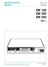 Manual de serviço Sennheiser EM 500