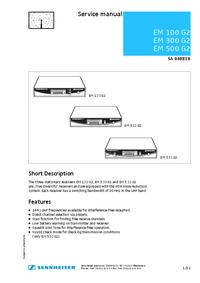 Service Manual Sennheiser EM 300 G2