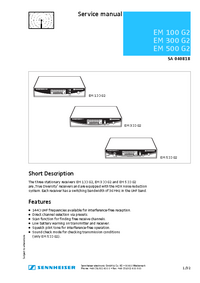 Serviceanleitung Sennheiser EM 500 G2