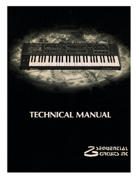 Service Manual SequentialCirquits Prophet 600