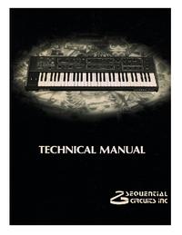Manual de serviço SequentialCirquits Prophet 600
