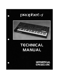 Manual de servicio SequentialCirquits Prophet 5