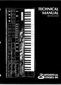 Service Manual SequentialCirquits Prophet 5