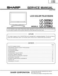 Manuale di servizio Sharp LC-37D6U