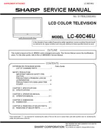Manual de serviço Sharp LC-60C46U