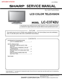 Manual de serviço Sharp LC-C3742U