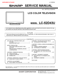 Service Manual Sharp LC-52D43U