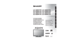User Manual Sharp LC-42DH77S