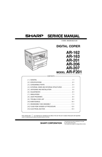 Manual de servicio Sharp AR-F201
