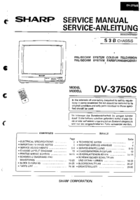 Manual de servicio Sharp DV-3750S