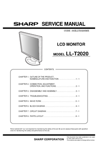 Service Manual Sharp LL-T2020