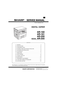 Manual de servicio Sharp AR-160