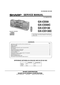 Manual de servicio Sharp GX-CD30