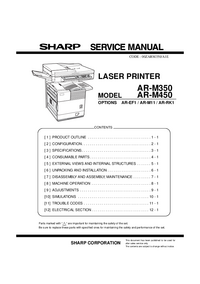 Manual de servicio Sharp AR-RK1