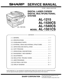 Service Manual Sharp AL-1530CS
