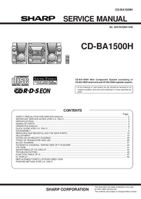 Service Manual Sharp CD-BA1500H