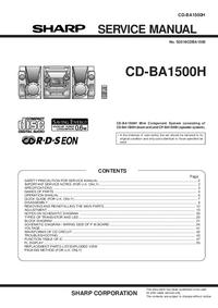 Manuale di servizio Sharp CD-BA1500H