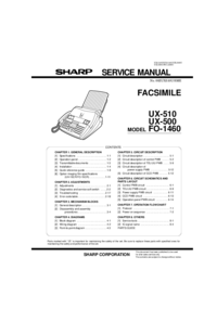 Manual de servicio Sharp FO-1460